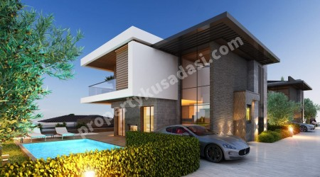 Brand New Detached Villas with Private Pool  and sea View in Kusadasi