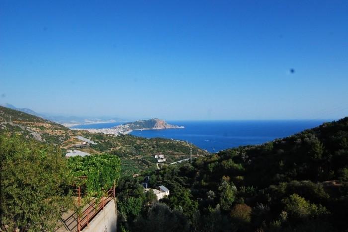 Alanya Dinek'te Full Deniz Manzaralı Villa
